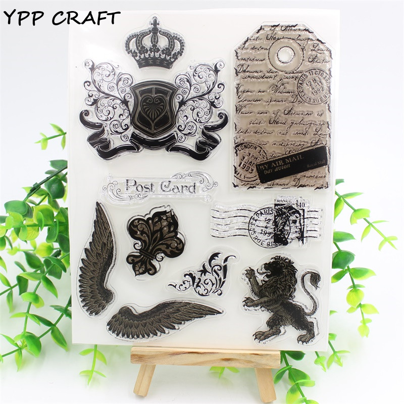 YPP CRAFT Post Card Transparent Clear Silicone Stamp/Seal for DIY scrapbooking/photo album Decorative clear stamp sheets clothes rack and telephone set for clear stamp designs scrapbookin photo album paper card silicone stamp craft rm 246