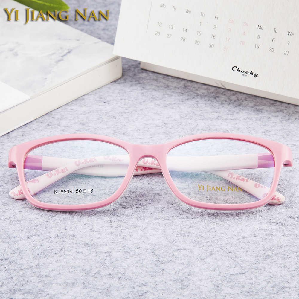 Yi Jiang Nan marca niños gafas marco TR 90 Flexible niños y niñas adolescentes gafas de prescripción