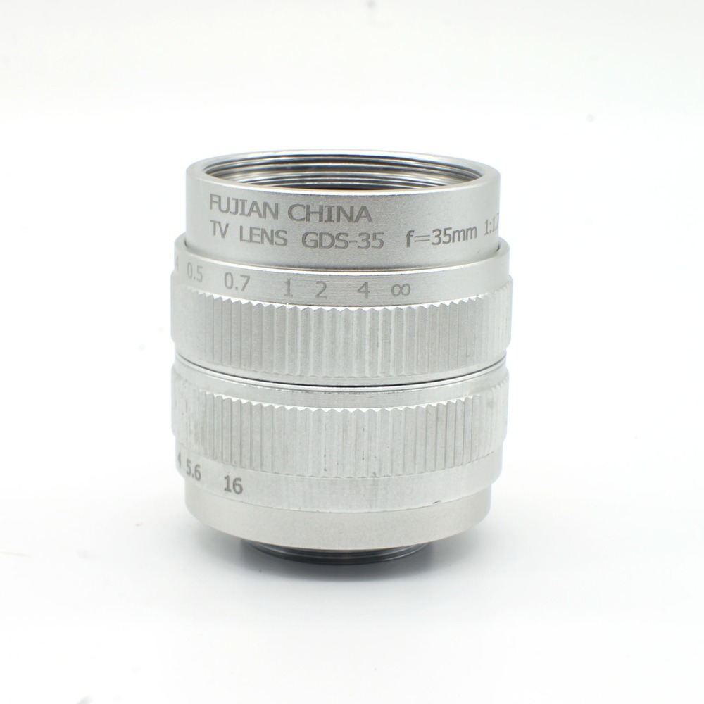 C mount 2/3 CCTV 35mm F1.7 Movie Lens for E NEX-C3 NEX-5 NEX-5C NEX-5N NEX-7 VG10E Silver