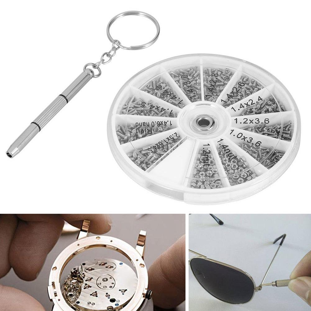 601Pcs Screw Nut Accessories Screwdriver Clock Watches Glass