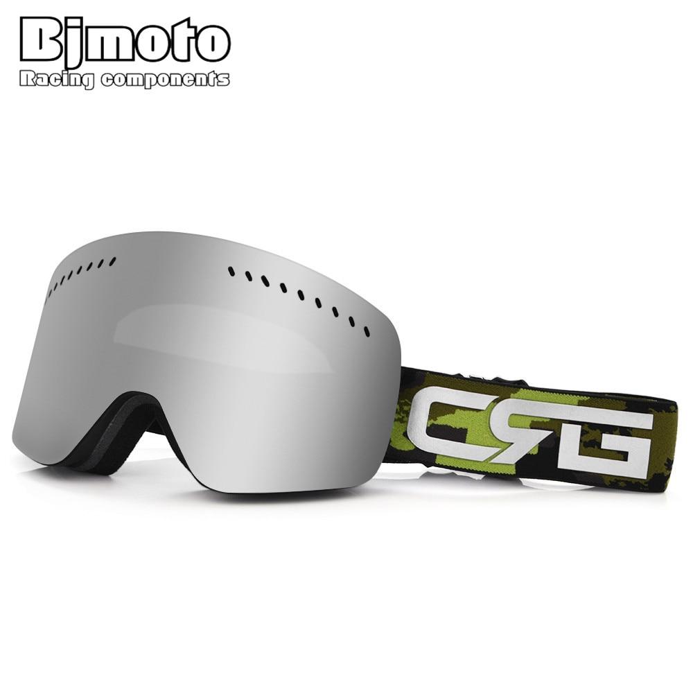 BJMOTO Professional Ski Goggles Double Layers Lens Anti-fog UV400 Ski Glasses Skiing Snowboard Men Women Outdoor Snow Goggle