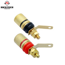 цена на 2pcs/1pair Gold Plated Amplifier Speaker Binding Post Terminal Banana Sockets Connector Suitable for 4mm banana plugs connector