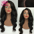 Must Haves Sexy Black Honey Blonde Hair Body Wave Glueless Wigs Heat Resistant Glueless Synthetic Lace Front Wig For Black Women