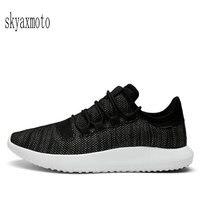 skyaxmoto 2017 Summer Men Running Shoes Ultra light Damping Sneakers Outdoor Air Boost Man Walking Sports Shoes
