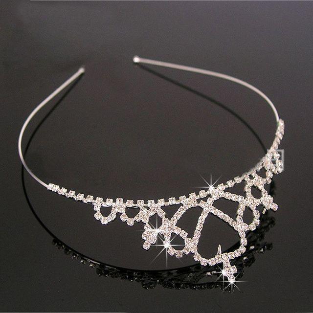 Fashion Girls Rhinestone Princess Crown Headband Tiara Hair Sticks Princess  hairband hair accessories hair band ff6c53067c09