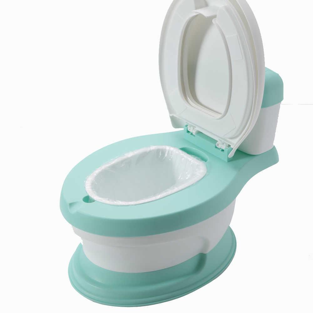 Новый дизайн Горячая Распродажа портативный туалет для ребенка туалет горшок бесплатно горшок щетка + мешок для очистки