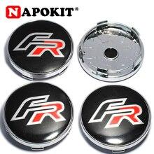 4 шт./лот, 60 мм, автомобильный логотип FR, крышка ступицы колеса, автомобильная Эмблема для сиденья Ibiza Leon Altea ABARTH Formula SC Racing