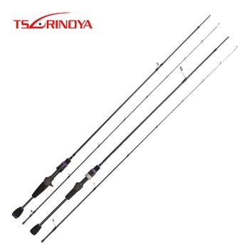 TSURINOYA AJING TROUT Fishing Rod ELF 1.83m 1.88m 1-7g UL F 2 Sec Spinning Rod Casting Rod FUJI Accessories Rockfish Pesca Olta