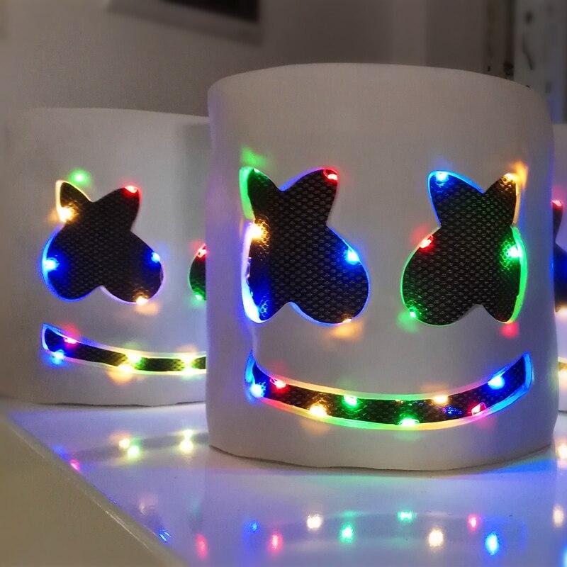 Novelty & Special Use Responsible Dj Marshmello Masks Light Headgear Mask Marshmello Helmets Cosplay Halloween Carnaval For Marshmello Dj Holiday Party