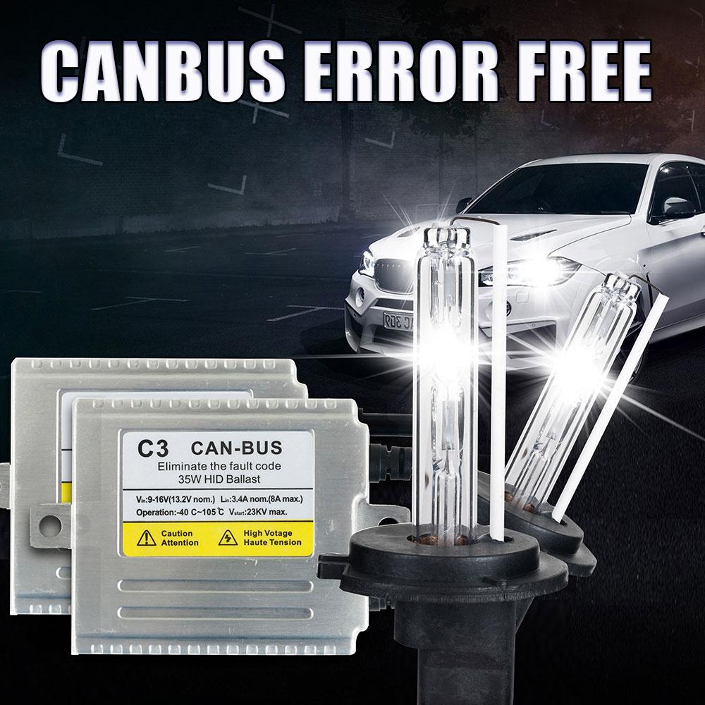 C3 Canbus H7 XENON HID KIT 35W hid lamp H1 H3 H4 H7 H11 9005 9006 881 D2S 35W xenon bulb 4300k 5000K 6000k 8000k kit xenon h4