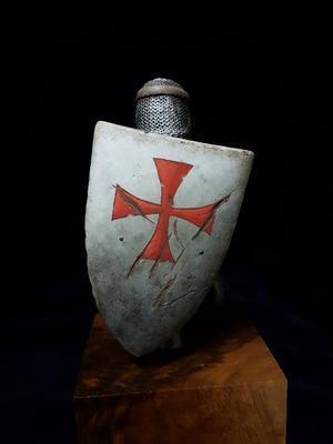 1 10 resina busto modelo kit crusader guerreiro 247d 04