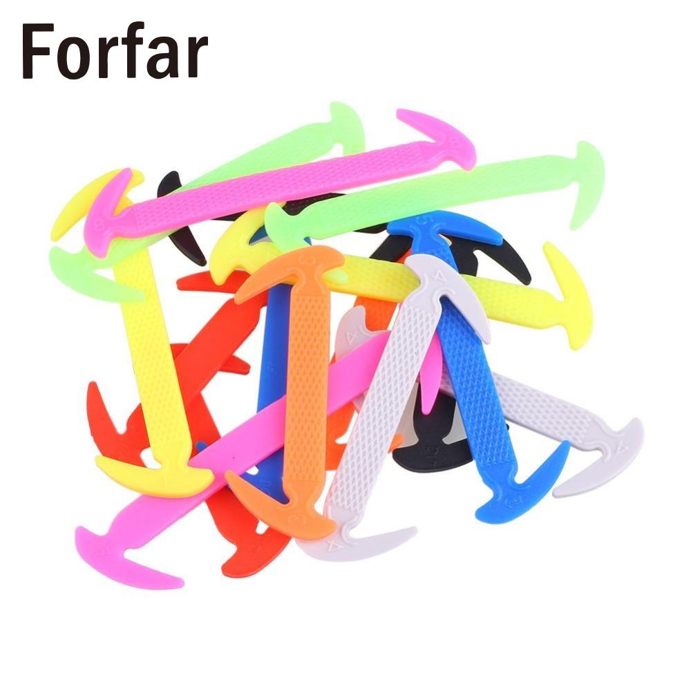 16pcs Unisex No Tie Elastic Silicone Shoe Lace Sneakers Adult Child Shoelaces Outdoor camping hiking tool