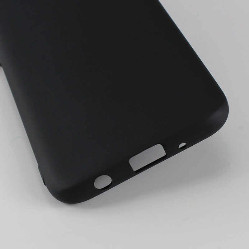 أسود لينة بولي TPU الهاتف حقيبة لهاتف سامسونج غالاكسي M30 M20 M10 A50 A30 J3 J5 J7 A3 A5 A7 2017 A8 A6 J4 2018 J3 J5 J7 A3 A5 A7 2016