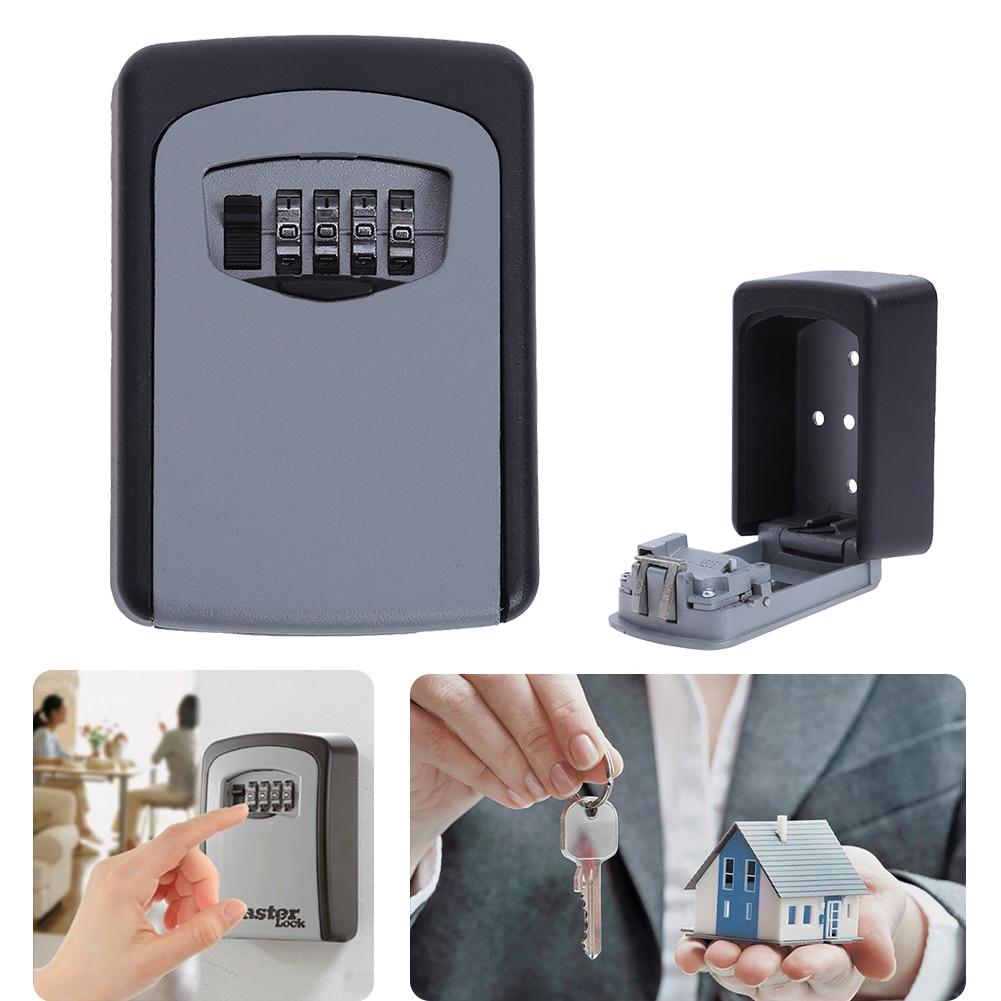 Aliexpress Com Buy 4 Digit Key Lock Box Outdoor Wall
