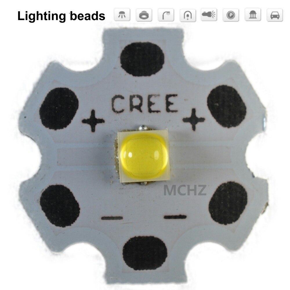 20pcs Best Price OSRAM CREE 3535 5050 10W Full Power LED Flashlight Car Lights Lamp Bead White 6500K With 20MM Aluminum PCB in Light Beads from Lights Lighting