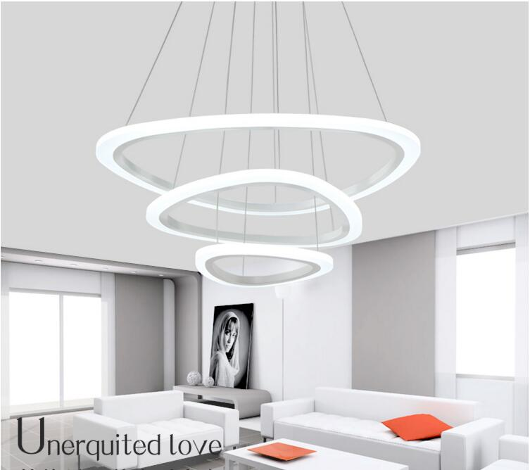 Modern LED pendant lights for living room Kitchen acrylic aluminum body suspension hanging ceiling lamp luminaire pendant lamps