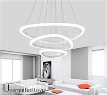 Современные СВЕТОДИОДНЫЕ подвесные светильники для гостиной Кухня акриловые алюминиевый корпус подвеска висячие потолочный светильник светильник подвесные светильники