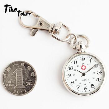 Tike Toker Student testy pielęgniarka zegarki zegarki nie wodoodporny posiadacze zegarki starszych wyczyść duże numery zegarki kieszonkowe klucze tanie i dobre opinie Kwarcowe Zegarki Na Rękę Uśpienia tracker Nastrój tracker Odporne na wodę Fitness tracker QUARTZ NONE 3709334 ROUND