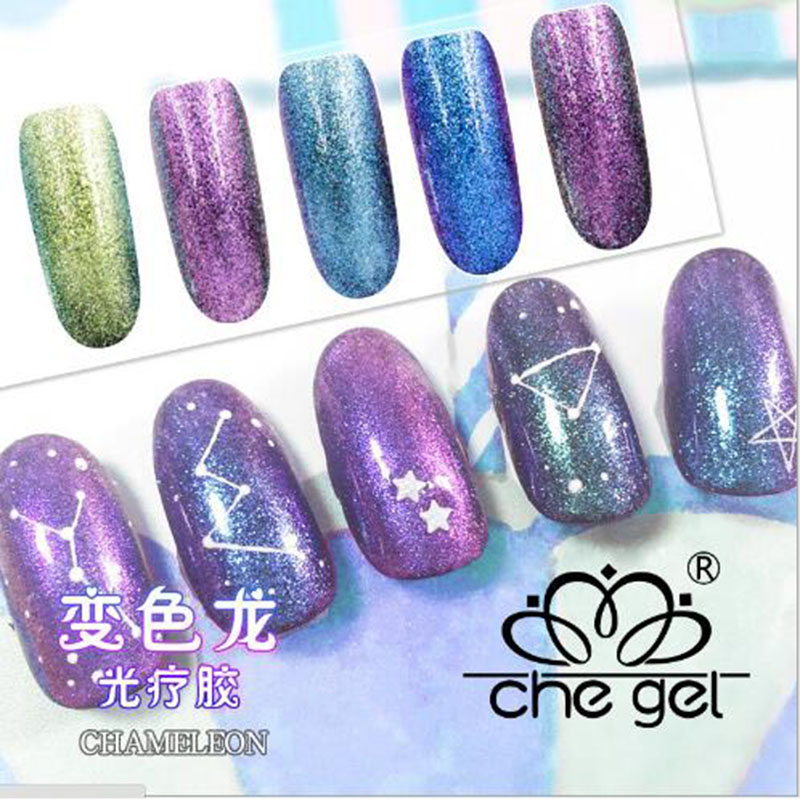 Che Gel Chameleon Temperature Color Changing Nail Glitter Polish Thermal Change Uv Lacquer Fluorescent Esmalte Shine