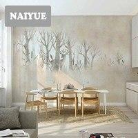 Wallpaper Elk Nordic non woven wallsickers creative personality TV background wall mural Qiangbu simple European custom