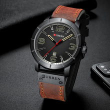 цена на CURREN Mens Watches Top Luxury Brand Men Waterproof Watches Men's Quartz Date Clock Male Sports Wrist Watch Relogio Masculino