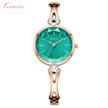 цена на KIMIO Women Bracelet Watches Fashion Ladies Dress Watch 2019 Top Brand Luxury Female Wristwatch Clock Relogio Feminino With Box