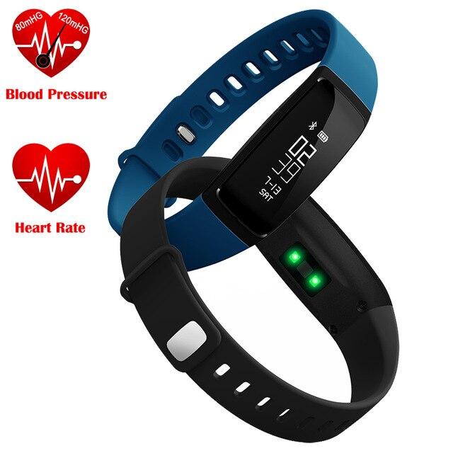 imágenes para La Presión arterial Inteligente Pulsera Smartband V07 Pulsera Inteligente Podómetro Monitor Del Ritmo Cardíaco de Fitness Bluetooth Para Android IOS Teléfono