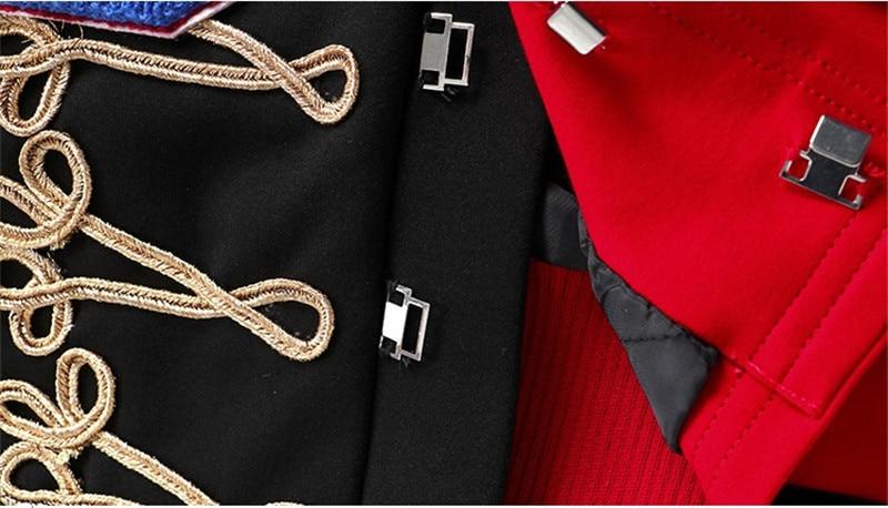 Veste Marque Manteau À Spring Broderie Femmes Manches Femelle F266 Designer Récent De 3d Longues Patchwork 2019 Outwear Piste Costume Multi Base qYxAOxpF
