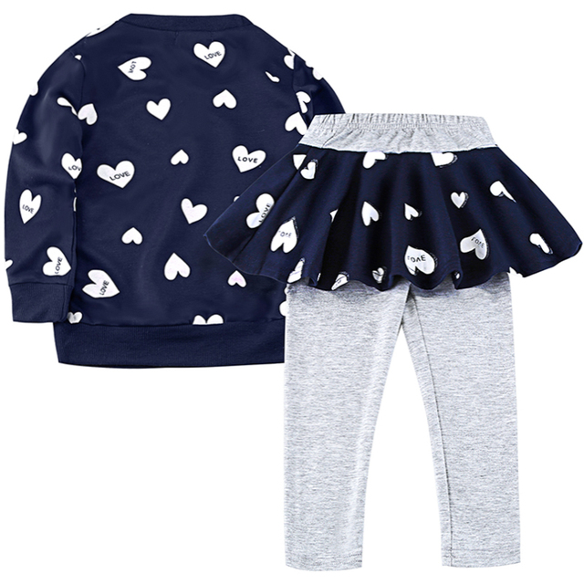 Toddler Girls Clothes kids Autumn Winter T-shirt+Pants Christmas clothes Girls printed Outfits Sport Suit Children Clothing set