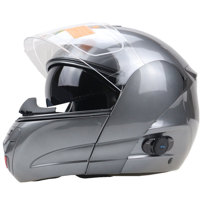 Professional Safety Motorcycle Bluetooth Helmet Double Leens Flip Up motorbike Helmet DOT ECE Approved Cruiser Bike