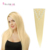 Sin procesar #60 Brasileño de la Virgen Del Pelo Clip en la Extensión Sígueme Biond Clip en extensiones de Cabello Clip en extensiones de Cabello humano Natural para Mujer Blanca