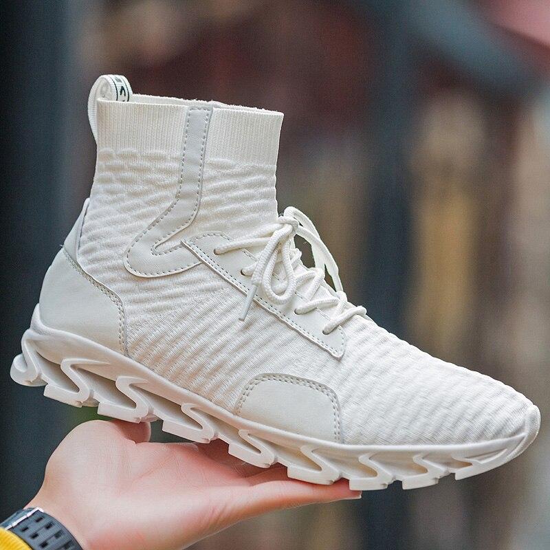 ZENVBNV Cool Blade hommes chaussures décontractées respirant tissé noir baskets chaussures hommes à lacets chaussures pour marcher nouveau Design creux baskets