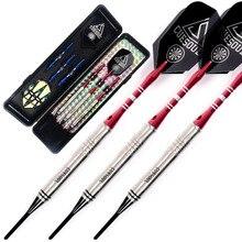 Cuesoul Tungsten Soft Tip Darts - Precise Barrels 16.04 Grams 85% Tungsten with dart flight,dart shaft,dart case cuesoul 18 grams soft tip tungsten darts 85