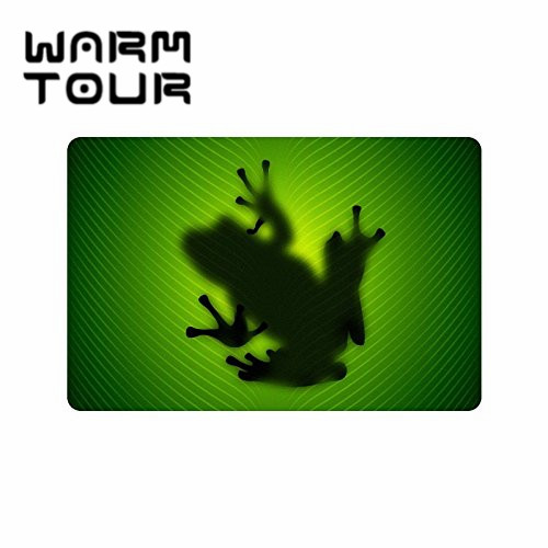WARM TOUR Frog Custom Doormat Entrance Mat Floor Mat Rug