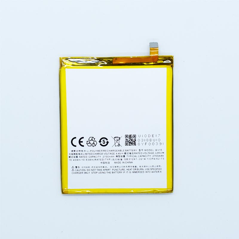 Hekiy Phone Battery For Meizu U10 BU10 Mobile Phone MeiBlue U10 Rechargeable Bateria 2760mAh Replacement Parts U 10