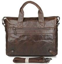 JMD Real Leather Vintage Style Mens Briefcase Messenger Bags Handbag Laptop Bag 7120Q