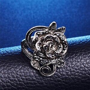 3 шт., модный винтажный цветной ювелирный набор, Черный Кристалл, цветок розы, ювелирные наборы для женщин, свадебный подарок для вечеринки