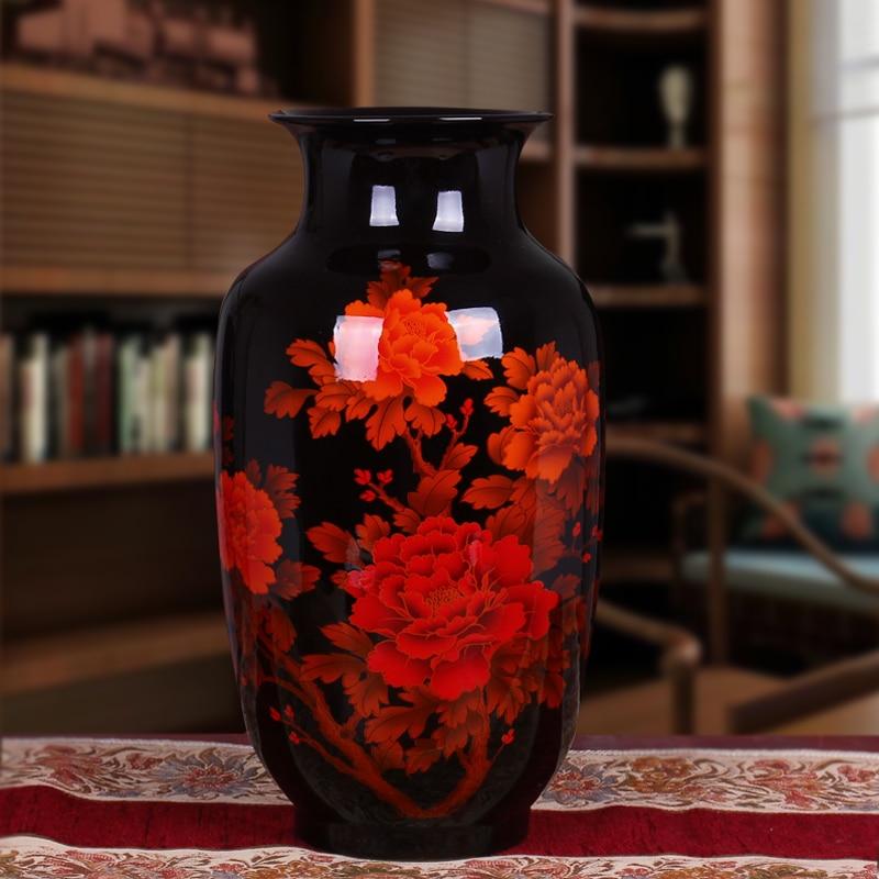Jingdezhen Yi Xing Guci Ceramic Red Vase Modern Minimalist Living