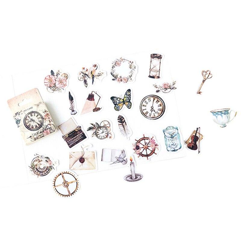 Купить с кэшбэком 46pcs/pack vintage ancient objects mulifunction paper sticker label decoration sticker for diary album