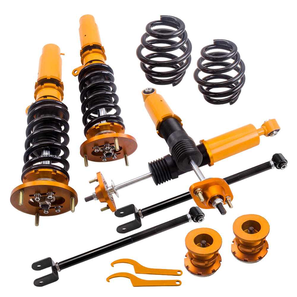 Coilover Suspension Struts for BMW E46 3 Series 323i 328i 330i M3 318i 320i  Adj Height  Lowering Kit+ control arms Shocks Coilover Suspension Struts for BMW E46 3 Series 323i 328i 330i M3 318i 320i  Adj Height  Lowering Kit+ control arms Shocks