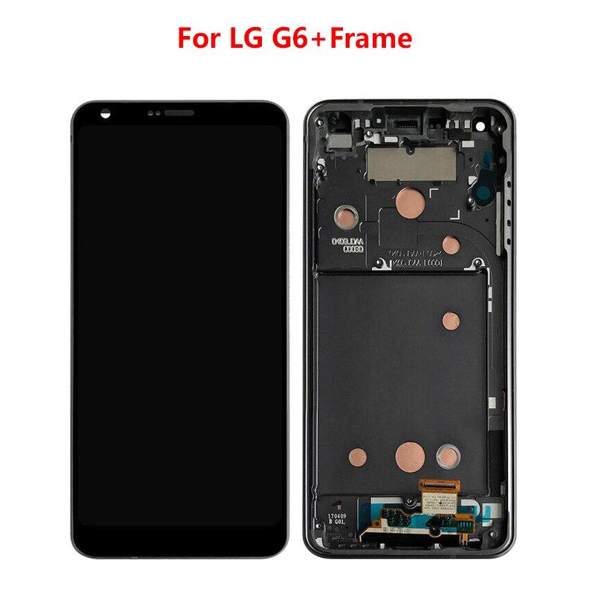 Pour LG G6 LCD avec numériseur d'écran tactile pour LG G6 avec cadre LCD affichage de remplacement outil gratuit