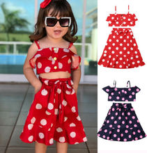 2Pcs Newborn Infant Baby Girl Bow Dress Clothes Ruffle Tops Skirt Outfits Set Newest