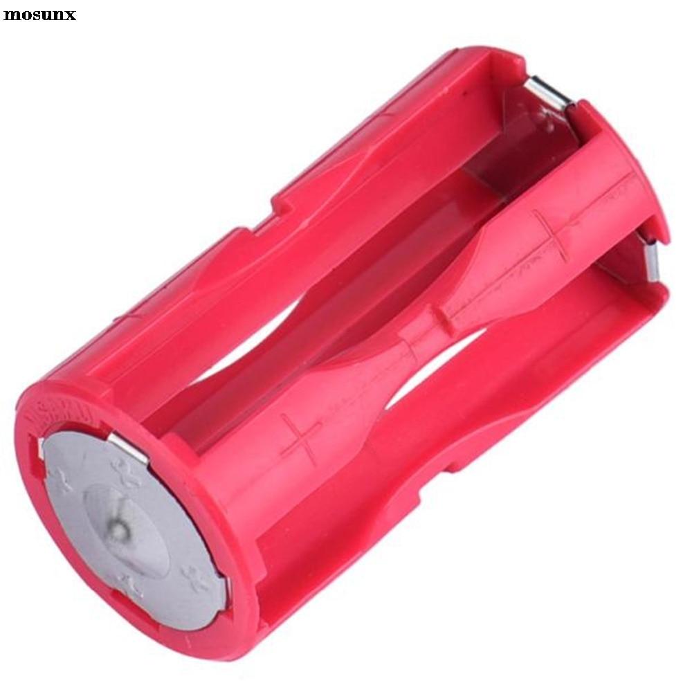 купить mosunx Parallel Cell Adapter Battery Holder DC 1.5V Case Box Convert 4 AAA to 1 C Size Diy Power Bank IqosBattery Holder по цене 27.2 рублей