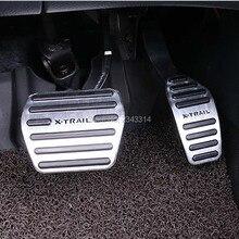 Для Nissan X-Trail X Trail XTrail T32 алюминий на педаль акселератора ГАЗ тормозные колодки педали внутренний автомобильный аксессуар