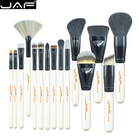 JAF 15PCS SET Portable Cosmetic Makeup Brushes Set Blusher Eyeshadow Powder Foundation Lip Makeup Cosmetic Brush