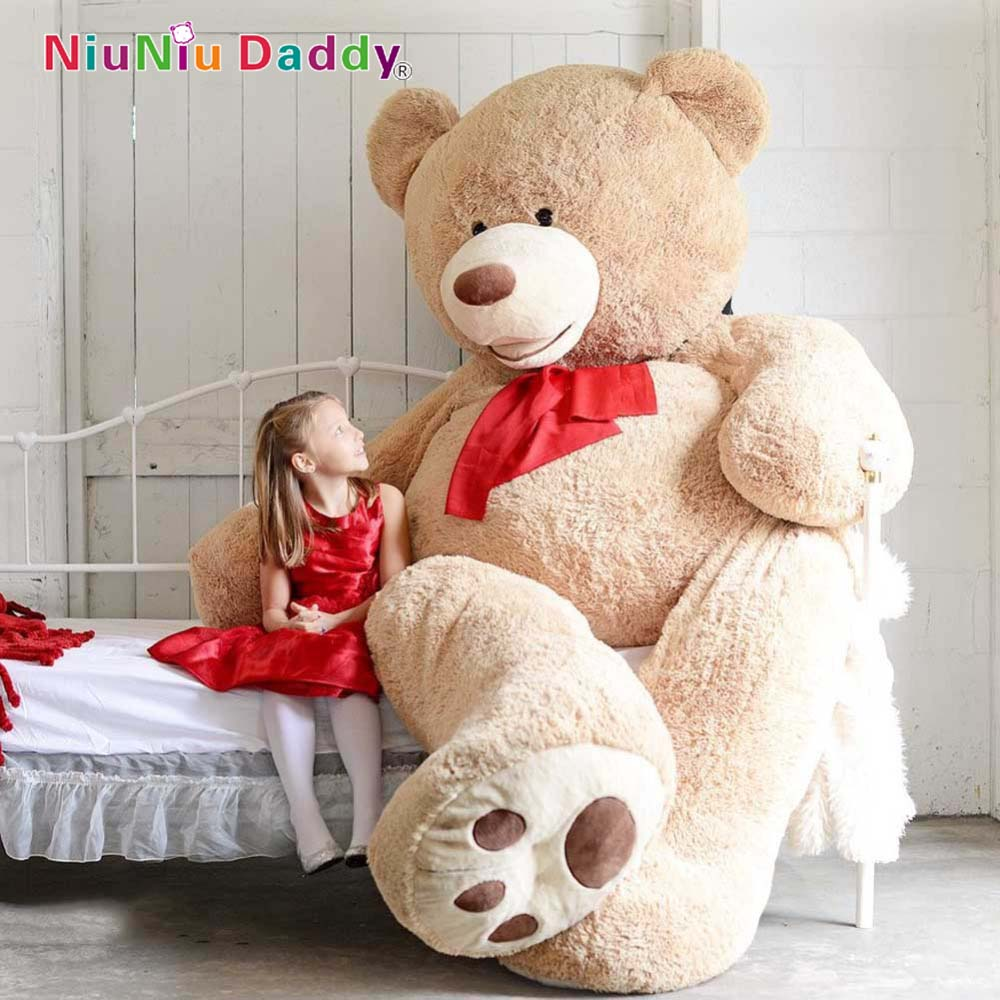 200cm big size usa teddy bear large bearskin giant bear in stuffed plush animals from toys. Black Bedroom Furniture Sets. Home Design Ideas
