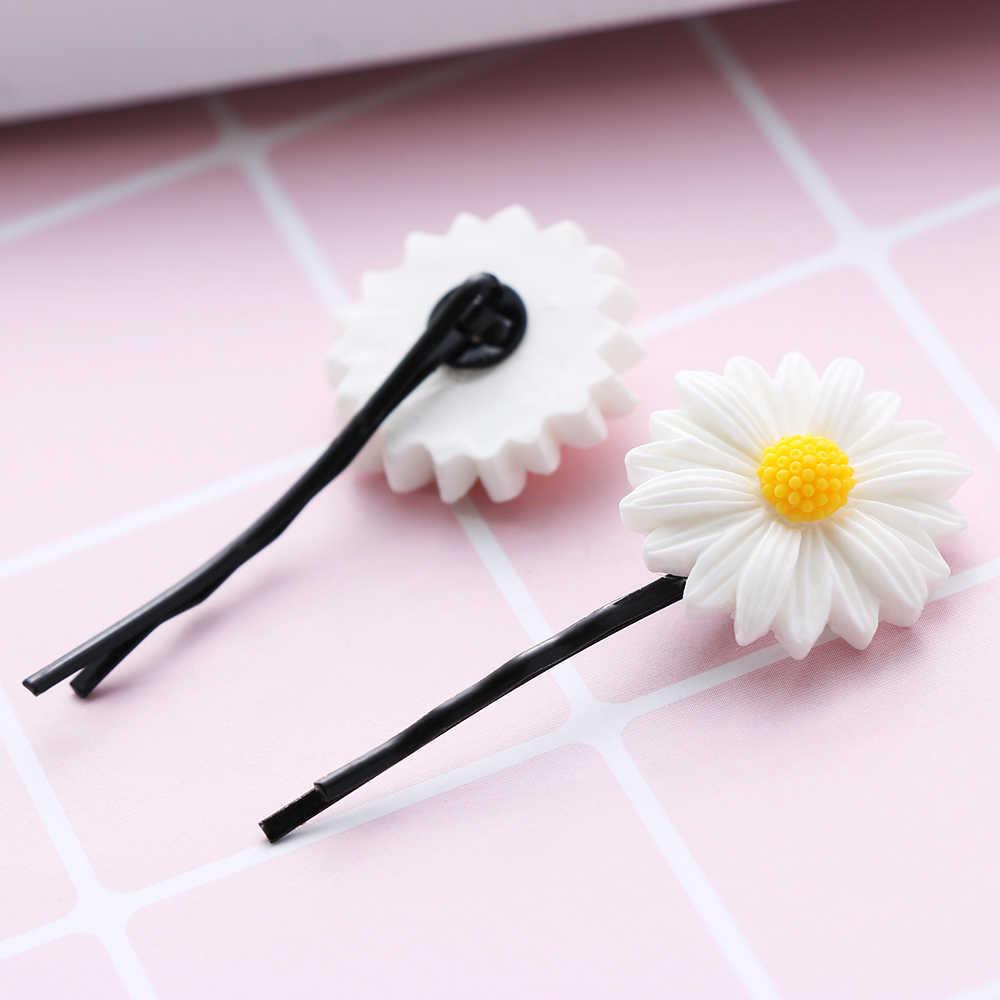 2 uds Mini Margarita flor dulce pinza de pelo anillo bandas de cuerda elástica horquillas Cola de Caballo niñas niños moda diadema accesorios para el cabello