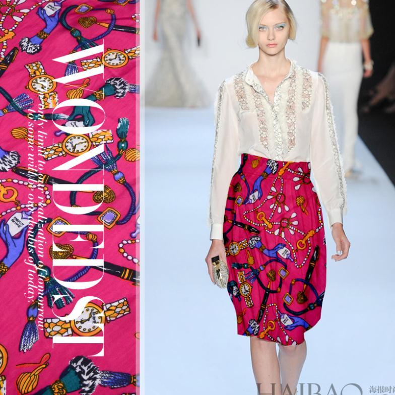 送料無料2014新しいシルク生地diyファッション服スカートオートクチュール花懐中時計の