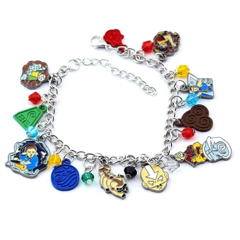 Hot Fashion Anime The Last Airbender Charm Bracelet Bangle For Women Girls Justice Christmas Gifts Jewelry for boys girls kids image
