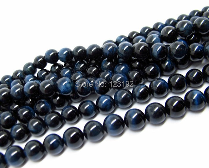 Blue Tiger Eye stone Beads 140pcs 8mm Round Smooth beads